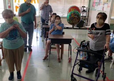 Seniors at a birthday party