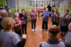 Specials needs adults at a dance class